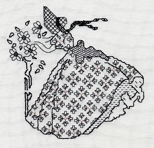 вышивка монохром